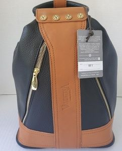 Valentina Large Leather Convertible Sling Backpack